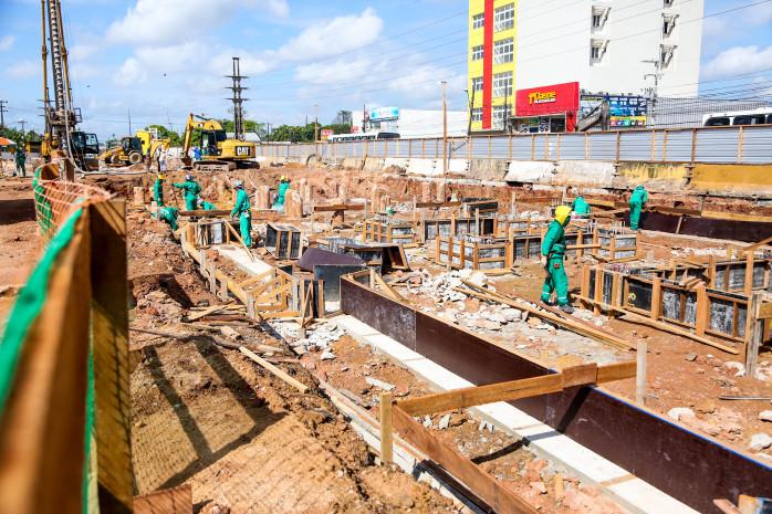 Obra no Terminal Tapanã avança na etapa de fundação