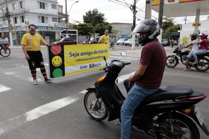 Ações educativas em ciclofaixas marcam o Dia Mundial sem Carro em Belém