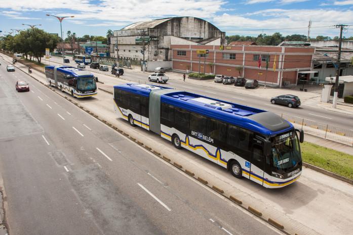 2016.06.28 - PA - Belém - Brasil: Ônibus de Trânsito Rápido - BRT Belém Foto: Oswaldo Forte