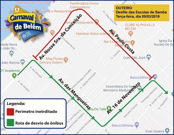 Mapa - Interdição e desvio de rota de ônibus - Outeiro-06