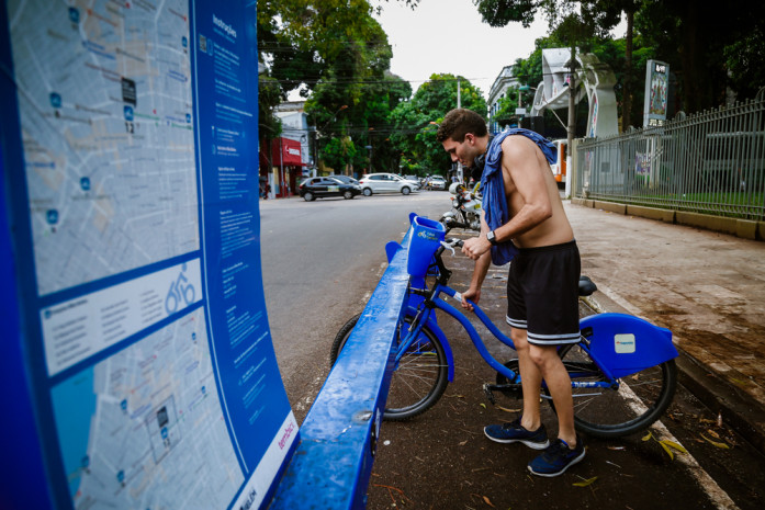 """Com quatro novos pontos, """"Bike Belém"""" registra aumento no número de viagens"""