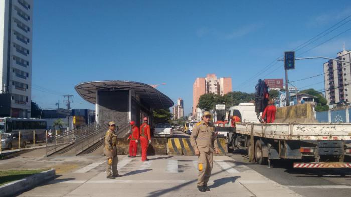 Pista do BRT será interditada em São Brás para reparos