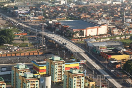 2018.04.19 - PA - Belém - Brasil: Fotos aéreas de Belém. Elevado da avenida Augusto Montenegro.